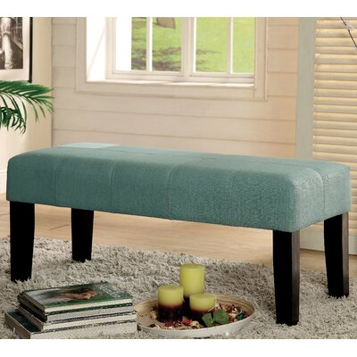 Bury Wood Bench Color: Blue