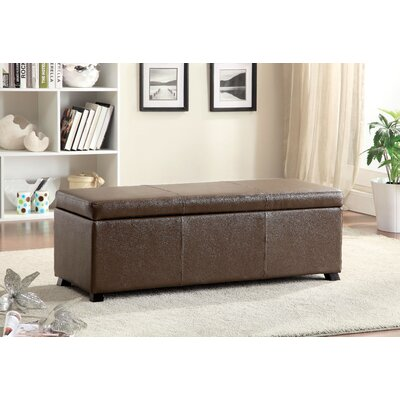 Wendell Leather Storage Bench