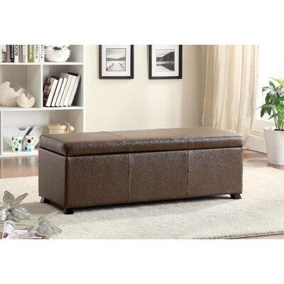 Wendell Leather Storage Bench