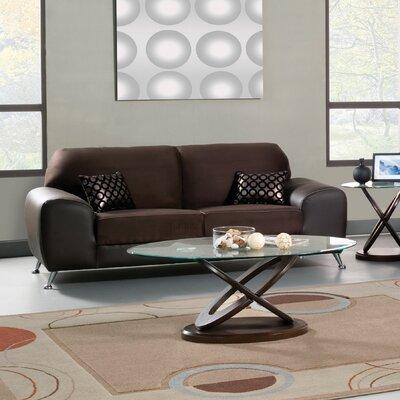 Hokku Designs Sona Suede / Leatherette Sofa