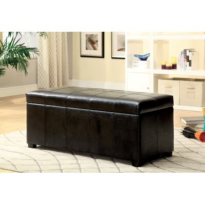 Alberta Leather Storage Bench