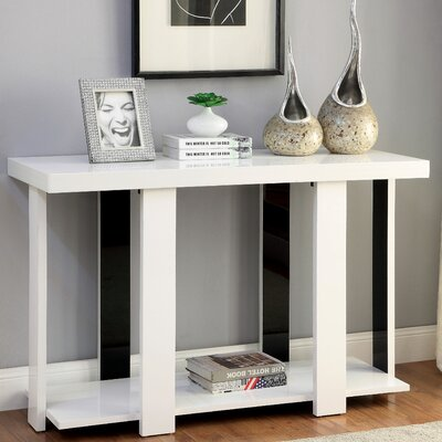 Arnulfo Console Table Color: White