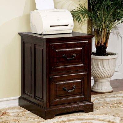 Appleby Transitional 2-Drawer Dark Walnut Vertical Filing Cabinet
