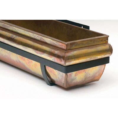 """Stainless Steel Window Box Planter Size: 30"""""""
