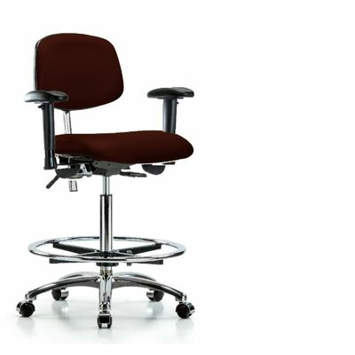 Beauregard Ergonomic Office Chair Color (Upholstery): Burgundy, Casters/Glides: Casters, Tilt Function: Included