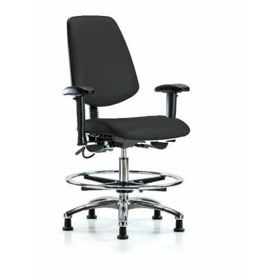 Leonardo Ergonomic Office Chair Color (Upholstery): Black, Casters/Glides: Glides, Tilt Function: Included