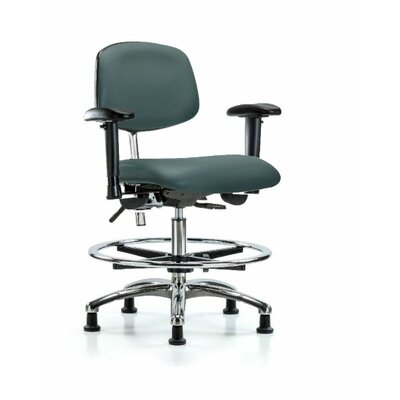Anouk Medium Bench Ergonomic Office Chair Color (Upholstery): Colonial Blue, Casters/Glides: Glides, Tilt Function: Included