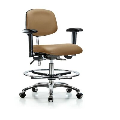 Anouk Medium Bench Ergonomic Office Chair Casters/Glides: Casters, Color (Upholstery): Taupe, Tilt Function: Included