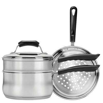Basics 3-qt. Double Boiler and Steamer Set