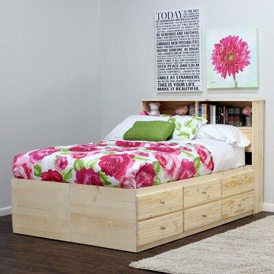 Platform Bed Color: Antique Cherry, Size: Queen