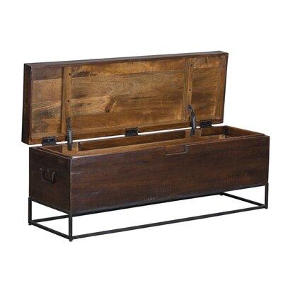 Rancho Mirage Wood Storage Bench
