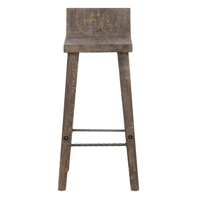 "Feinberg Bar & Counter Stool Seat Height: Bar Stool (30"" Seat Height), Color: Rustic Brown"