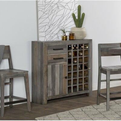 Abbey 28 Bottle Floor Wine Cabinet Color: Charcoal
