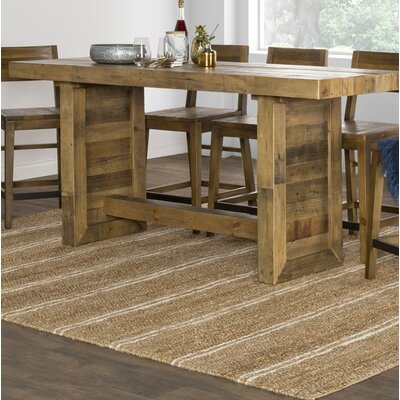 Needham Counter Height Dining Table Color: Natural Pine Wood