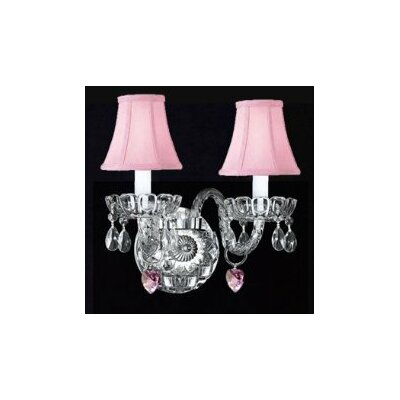 Wall Sconces With Shades And Crystals : Murano Venetian Style Crystal Wall Sconce with Hearts and Shades Wayfair