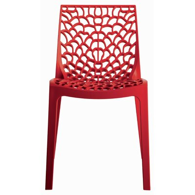 Gruvyer Side Chair (Set of 2) Finish: Red