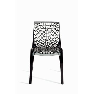 Gruvyer Side Chair (Set of 2) Finish: Dark Smoked Grey