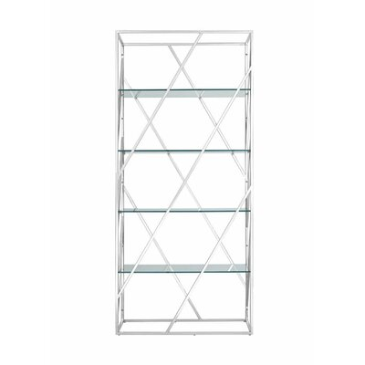 Electra Divider Etagere Bookcase Color: Transparent