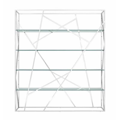 Muse Divider Etagere Bookcase Color: Transparent