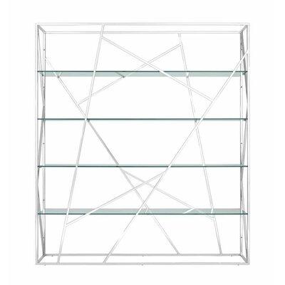 Muse Divider Etagere Bookcase Color: Transparent