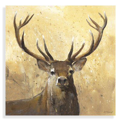 Art Marketing The Stag by Adelene Fletcher Art Print Wrapped on Canvas