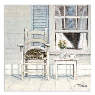 Art Marketing Catnap by Adelene Fletcher Art Print Wrapped on Canvas
