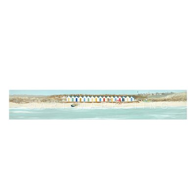 Art Marketing Beach Hut Parade by Anthony Waller Art Print Wrapped on Canvas