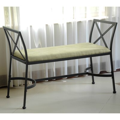 Mandalay Upholstered Bench Upholstery: Sage