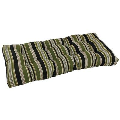 Indoor/Outdoor Loveseat Bench Cushion Fabric: Basalto Cherry