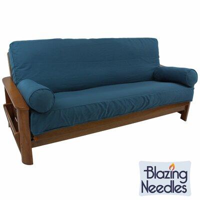 Premium Box Cushion Futon Slipcover Set Upholstery: Emerald