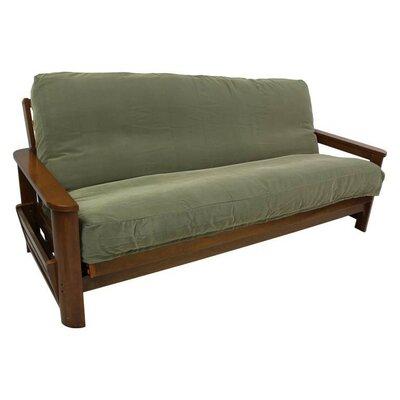 "Box Cushion Futon Slipcover Size: 9"" and 10"", Upholstery: Sage"