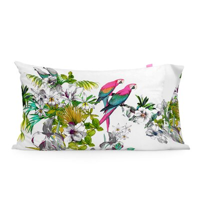 Happy Friday Blue Macaw Cushion Cover