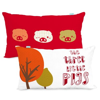 Happy Friday Little Pigs 100% Cotton Cushion Cover