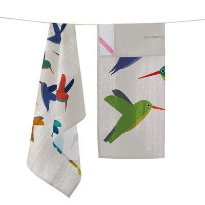 Happy Friday Colibri 2-Piece Tea Towel Set