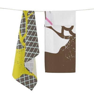 Happy Friday Deer 2-Piece Tea Towel Set