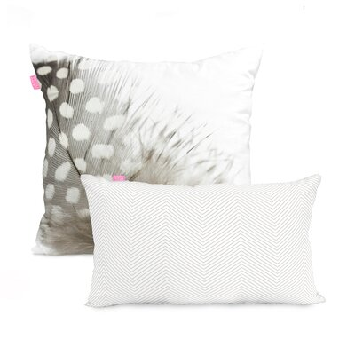 Happy Friday Light 2 Piece 100% Cotton Cushion Cover Set