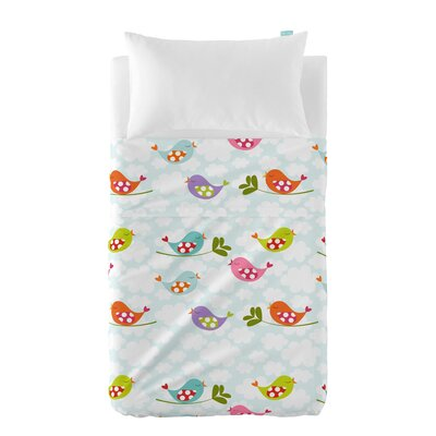 Happy Friday Little Birds 2 Piece Bedding Set