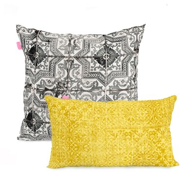 Happy Friday Bagru 2 Piece 100% Cotton Cushion Cover Set