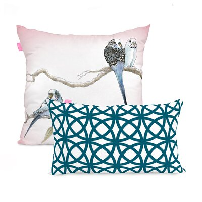 Happy Friday Eucalyptus 2 Piece100% Cotton Cushion Cover Set