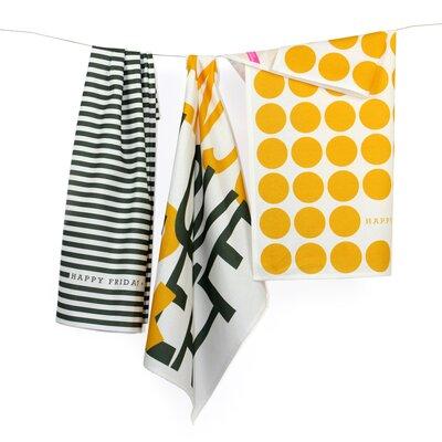 Happy Friday Enjoy 3-Piece Tea Towel Set