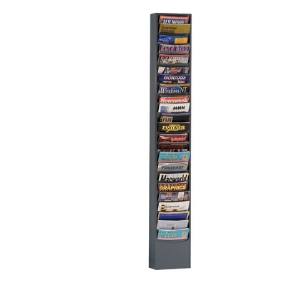 Prime Cold 23 Pocket Rolled Con-Tur Vertical Rack Color: Gray