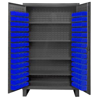 """78"""" H x 48"""" W x 24"""" D Lockable Cabinet Bin Color: Blue"""