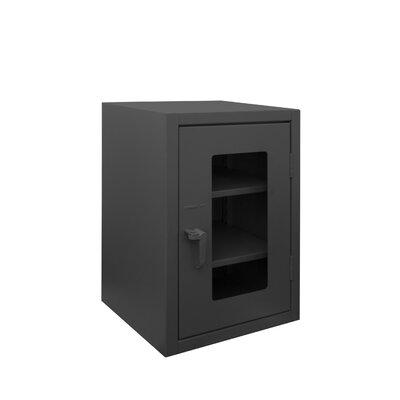 "36"" H x 36"" W x 24"" D Extra Heavy Duty Welded 12 Gauge Steel Clearview Counter Top Lockable Storage Cabinet"
