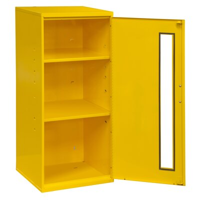 "30"" H x 13.75"" W x 12.75"" D Spill Control and Respirator Cabinet Color: Yellow"