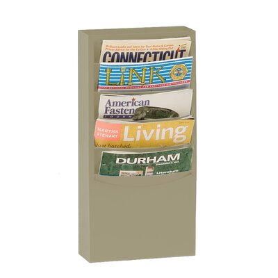 Prime Cold 5 Pocket Rolled Con-Tur Vertical Rack Color: Putty