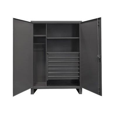 """78"""" H x 48"""" W x 24"""" D Extra Heavy Duty Welded 12 Gauge Steel Wardrobe Cabinets"""