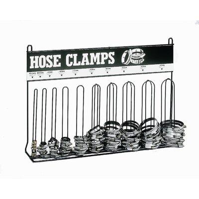 Heavy Gauge Wire 10 Loop Hose Clamp Rack