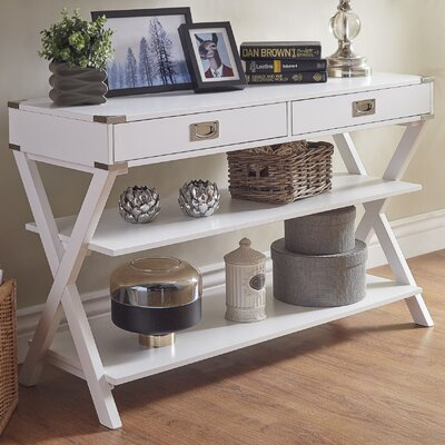 Heracles Console Table Color: White