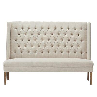 Solid Linen Tufted Upholstered Bedroom Bench Upholstery: Beige