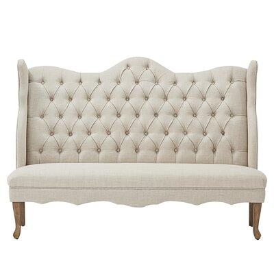 Linen Tufted Upholstered Bedroom Bench Upholstery: Beige